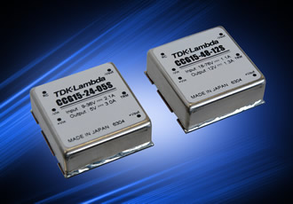 15W DC/DC converters have six-sided EMI shielding