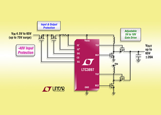 Boost controller provides up to 97% efficiency