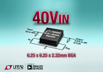 Silent switcher 2.5A µModule regulator in compact BGA package
