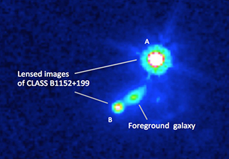 Magnetic fields in distant galaxy are piece of cosmic puzzle