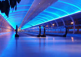 Intelligent lighting at Manchester Airport wins at LUX Awards