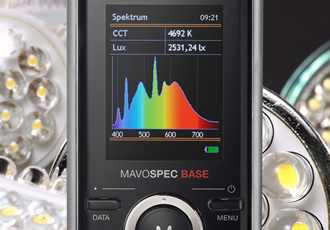 Evaluate colour quality of various light sources with spectrometer