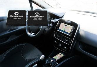 Smart hub ICs enable smartphone-connected infotainment