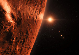 Neighbouring exoplanets may hold water