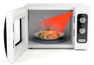 SMD device measures the temperature of your dinner