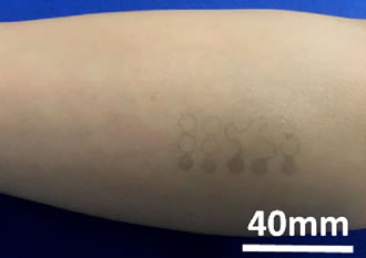 Temporary tattoo made of graphene tracks vital signs