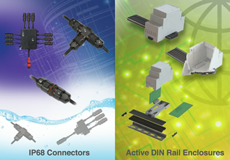 DIN-rail enclosures showcased at Southern Manufacturing