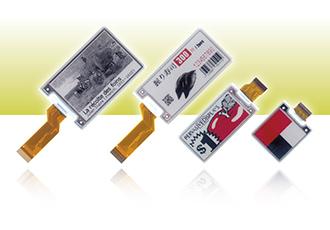Kleinformatige E-Paper-Farbdisplays mit integrierter Regelelektronik