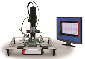 Benchtop based IR thermal test system for live testing