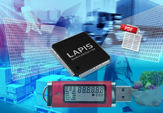 MCUs with built-in LCD driver optimised for data loggers