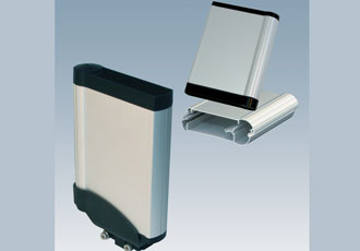Vertical holding bracket can be fitted to walls or machines