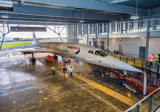 Concorde completes her final journey to new £19m home