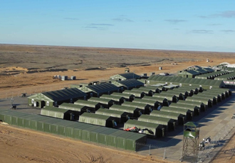 Rapid deployment shelters for range of military applications