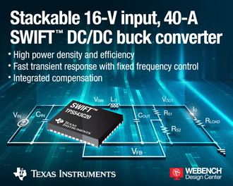 DC/DC buck converter features innovative control topology