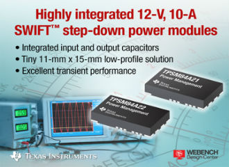 Industry's smallest 12-V, 10-A DC/DC step-down power solution