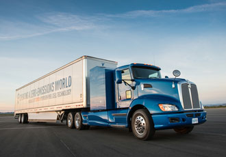 Hydrogen fuel cell system designed for class 8 truck use