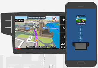 GPS navigation app brings AR to the road