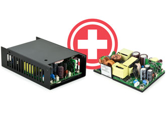 AC/DC medical power supplies deliver up to 94% efficiency