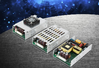 "Power supply comes in compact 3""x5"" U-channel format"