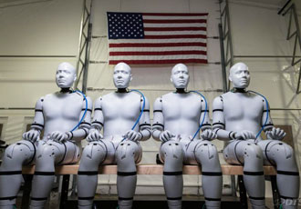 Test dummies designed to withstand explosive blasts