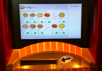 Touch, see, smell and taste this self-service pizza
