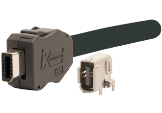 Miniature connector suitable for industrial Ethernet