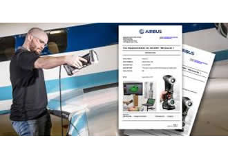 The HandySCAN 3D scanner now certified by Airbus