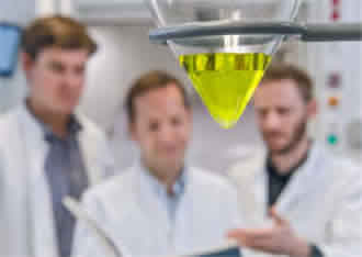 Biosensor zymonic acid shows changes in pH value