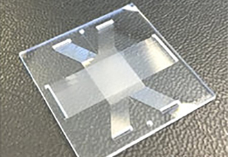 Glass microchip provides ultrafast separation of DNA fragments