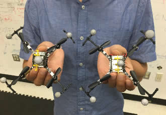 Safety 'bubbles' allow swarming robots to fly in formation