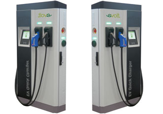 Rapid EV charger completes an 80% charge in 30 minutes