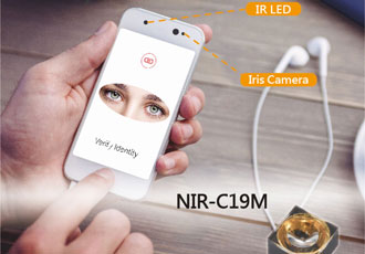 Infrared LED suitable for iris recognition