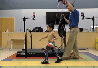 Exoskeleton improves walking for children with cerebral palsy