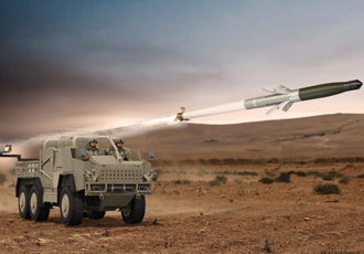 Land vehicle rocket launcher concept to be introduced at DSEI
