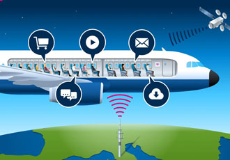 Airframe assemblies improve WiFi access on flights