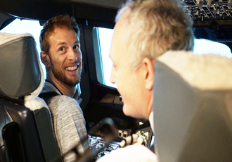 Formula 1 star Jenson Button test drives career as BA pilot