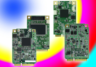 Mini-PCIe video capture modules for factory automation