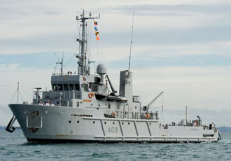 Man-overboard detection system designed for New Zealand Navy