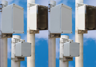 Pole kits extend enclosure mounting options