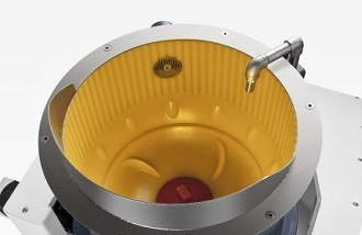 Centrifugal disk finishing for thin parts etc