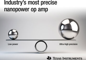 Amplifier combines high precision with lowest power consumption