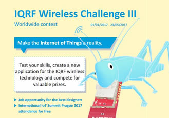 Ready, set, get involved in the worldwide IQRF Wireless Challenge III