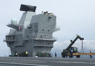 HMS Queen Elizabeth embarks on front line operations
