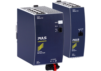 DIN-rail PoE injectors provide an integrated premium power supply