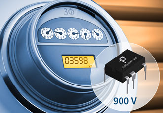 High efficiency flyback switcher features integrated 900V MOSFETs
