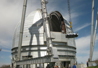 Astronomical optics at the largest telescope in Eurasia