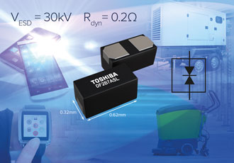 Protection diode combines up to 30kV with small footprint