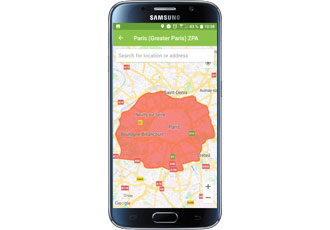 Driving ban in Paris Ozone-Alarm controls the city