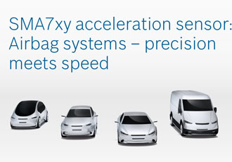 High-G acceleration sensors increase driver and passenger safety