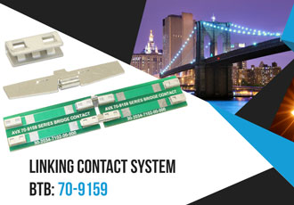 Contact system for linear LED and coplanar PCB connections